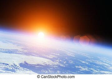 universum, soluppgång