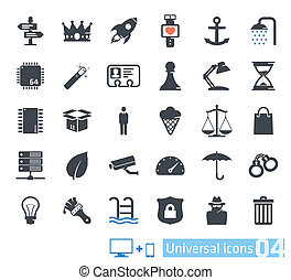 uniwersalny, komplet, 04, ikony