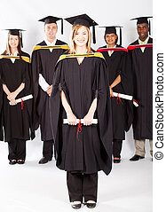 uniwersytecki student, skala, samica