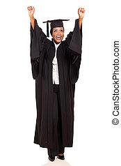 uniwersytet, do góry, absolwent, amerykanka, herb, samiczy afrykanin
