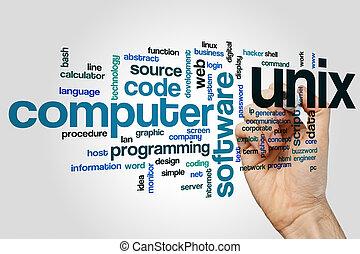 Unix word cloud concept - Unix word cloud
