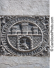 Unknown ancient coat of arms in Lviv, Ukraine