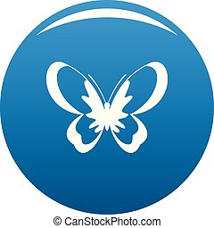Unknown butterfly icon blue vector