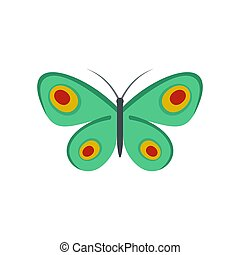 Unknown butterfly icon, flat style.