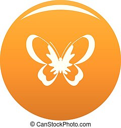 Unknown butterfly icon vector orange