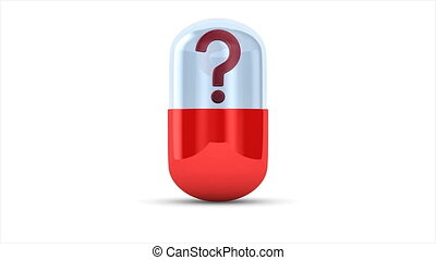 unknown capsule on white background. Isolated 3D...