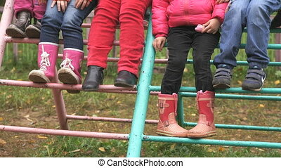 Unknown children posing for photos outdoors - Unknown little...