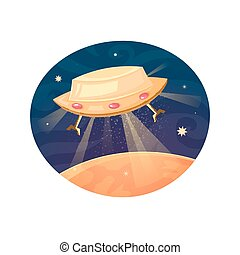 Unknown flying object vector illustration