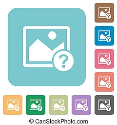 Unknown image rounded square flat icons
