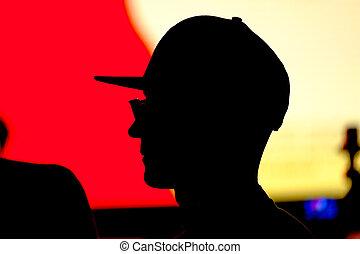 Unknown man silhouette