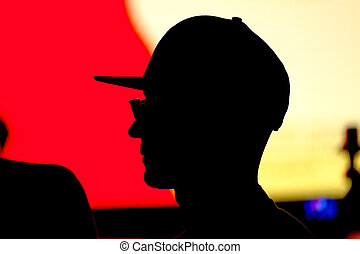 Unknown man silhouette