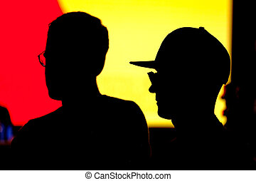 Unknown men silhouettes