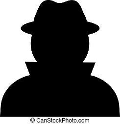 Unknown person, vector silhouette