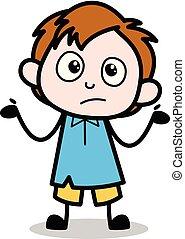Unknown - School Boy Cartoon Character Vector Illustration