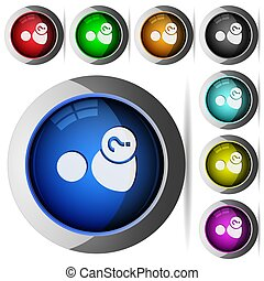 Unknown user round glossy buttons