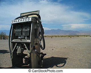 unleaded - retired gas pump stranded in the desert