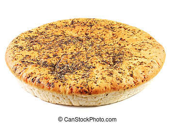 Unleavened wheat cake with spices