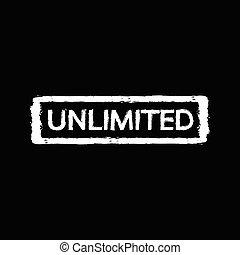 Unlimited stamp Illustration design