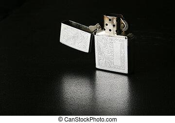 Unlit lighter - open lighter