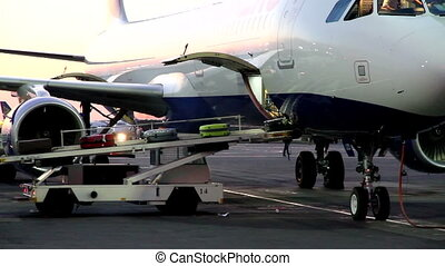 Unloading of Baggage