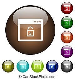 Unlock application color glass buttons
