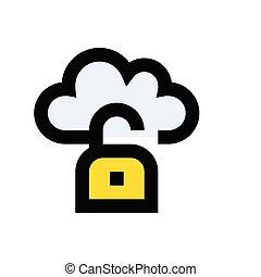 unlock  flat color icon