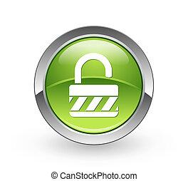 Unlock - Green sphere button