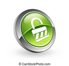 Unlock - Green sphere button