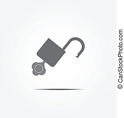 unlock key icon