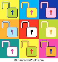 Unlock sign