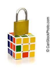 UNLOCK SOLUTIONS - A padlock on Rubik's cube, that holds...