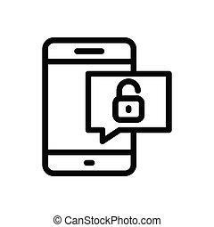 unlock thin line icon