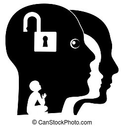 Unlock your Inner Child - Adult person searching for his...
