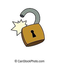 Unlocked padlock - This is an illustration of unlocked ...