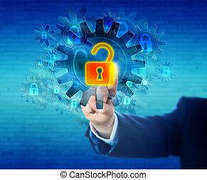 Unlocking A Virtual Lock In A Security Mechanism