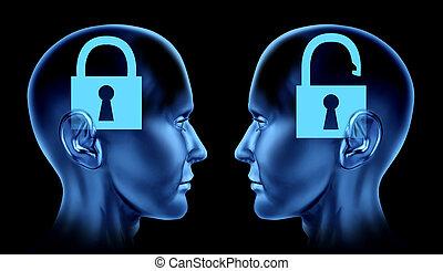 Unlocking the Brain - Open mind as key locked and un locked ...