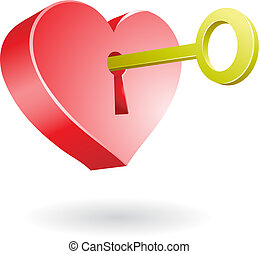 unlocking the heart - golden key unlocking the secret of...