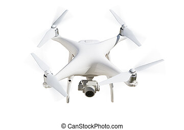 Unmanned Aircraft System (UAV) Quadcopter Drone Isolated on ...