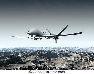 unmanned, combattimento aereo, veicolo