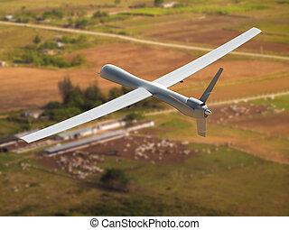 unmanned, luchtopnames, voertuig
