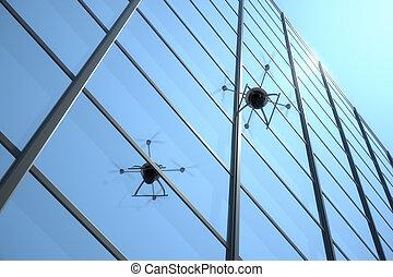 unmanned, quadrocopter, aereo, veicolo