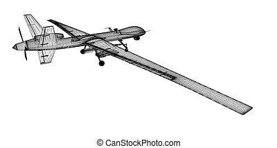 unmanned, (uav), aérien, véhicule