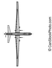 unmanned, (uav), aereo, veicolo