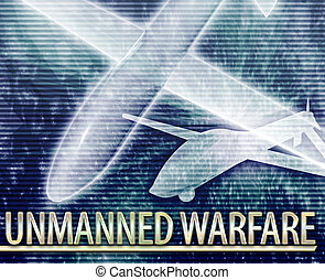 Unmanned warfare Abstract concept digital illustration -...