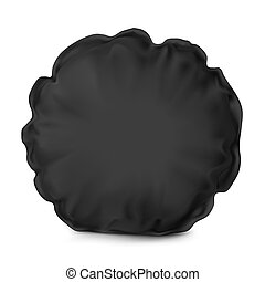 UNn Vector. Mock Up. Black Pillow Round - Vector. Mock Up....