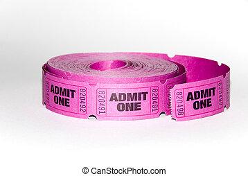 uno, admin, biglietto