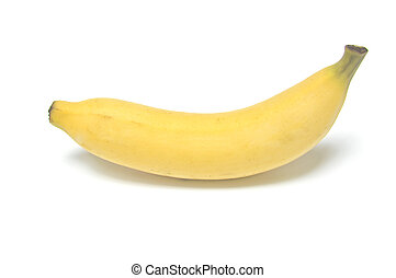 uno, banana, bianco, blackground
