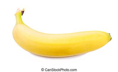 uno, banana, bianco, fondo