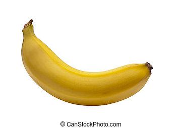 uno, banana, con, sfondo bianco