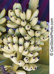uno, banana, dettaglio, frutta